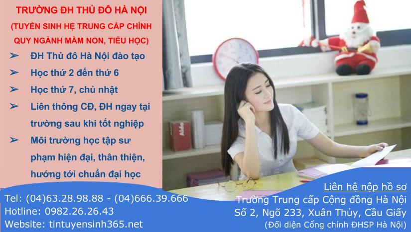 Tuyển sinh học trung cấp mầm non tại Đại học Thủ đô Hà Nội