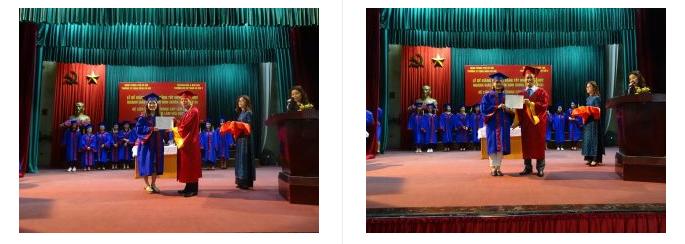 học viên nhận bằng tốt nghiệp đại học liên thông ngành giáo dục mầm non