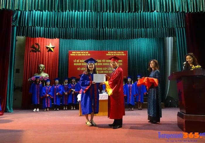 phát bằng tốt nghiệp lớp liên thông đại học ngành giáo dục mầm non đại học sư phạm hà nội 2