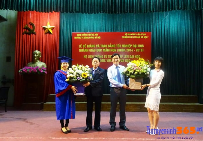lễ trao bằng tốt nghiệp lớp liên thông đại học sư phạm hà nội 2
