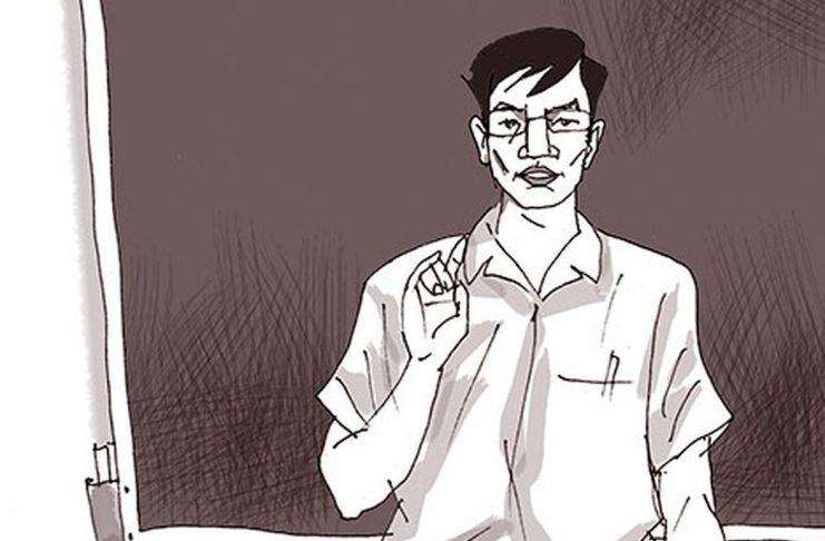 Hình ảnh người thầy giáo (Ảnh minh họa: Ngô Xuân Khôi)